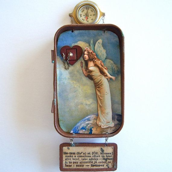 Lisa this one is for you. She looks like you. :-) Altoid Tin Shadow Box by Barbara Bazan