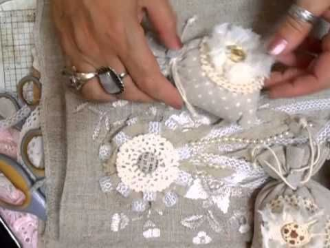 Fiona Jennings as jennings644 - Shabby Chic Linen/Lace Flower - time 6:52; July 17, 2013