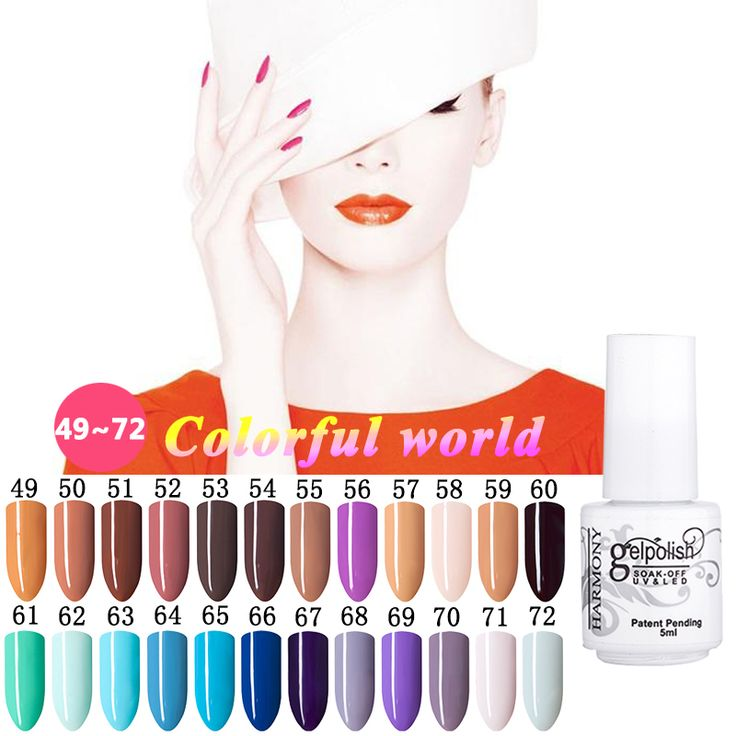 Nail Gel 1  168 Pure Colors Gel Nail Varnish 5ml UV Gel Nail Polish Lamp Soak off Gel Polish Gel Lak Vernis Semi Permanent Gelpolish * Click the image for detailed description