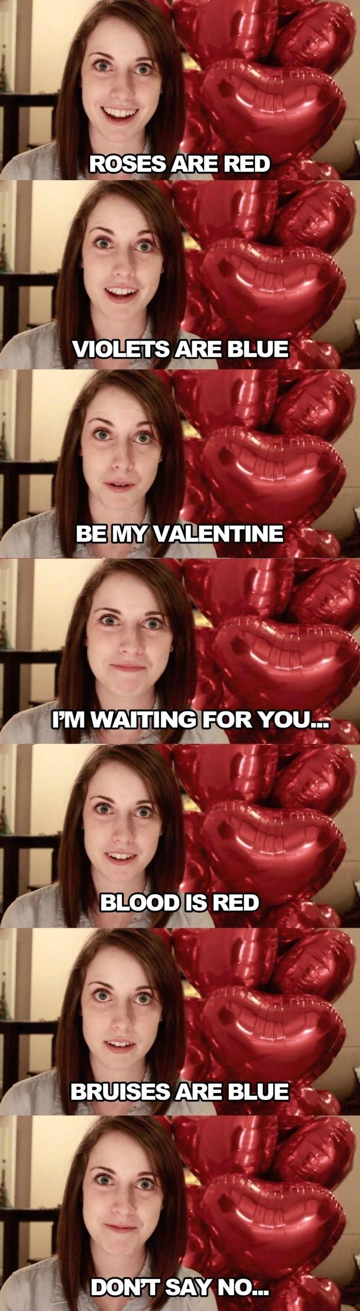 Overly Attached Gf's Poem // funny pictures - funny photos - funny images - funny pics - funny quotes - #lol #humor #funnypictures