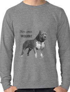 HERE COMES .......TROUBLE Lightweight Sweatshirt