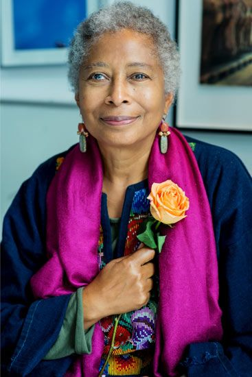 "Alice Walker ""Don't wait around for other people to be happy for you. Any happiness you get you've got to make yourself."""