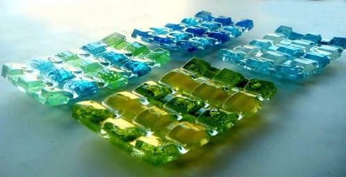 jaboneras 10 x 15 cm vidrio vitrofusión