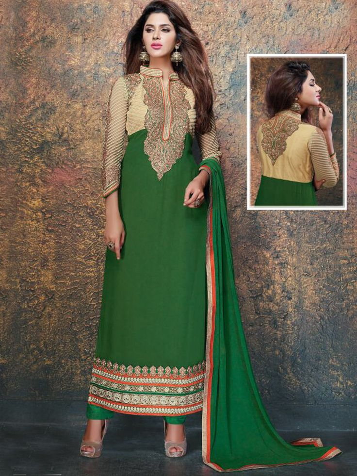 Be your own label with alluring Faux Georgette and Net, Straight Kameez in Green and Beige - See more at: http://www.akalors.in/Salwar-Kameez/Bangladeshi-Green-Net-Kameez-in-Faux-Georgette-with-straight-pants-id-1802743.html#sthash.1jvEl2JH.dpuf
