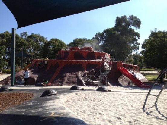 Faulkner Volcano Park Belmont. Find out how far this playground is from your current location and get a map to take you there with the Kids Around Perth app available from Google Play or the App Store