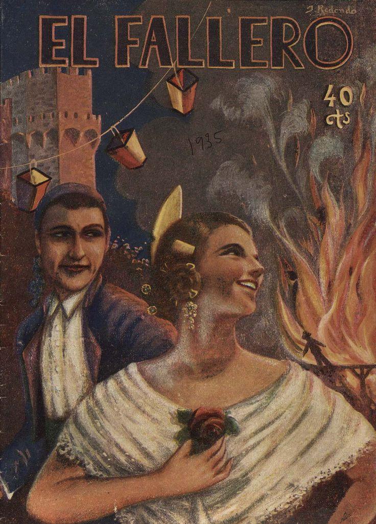 Cubierta de la revista El fallero,  nº 15, año 1935