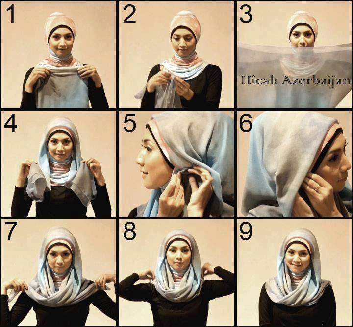 Square Scarf Hijab Tutorial طريقة للف الحجاب المربع