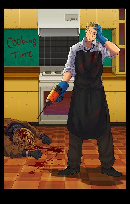 A-Ame'?.... germany..what did you do o.o<<<He's a bit upset at America for stealing his hamburger idea.