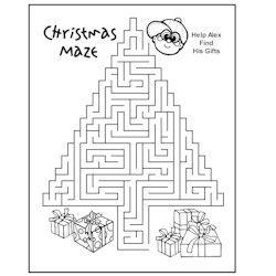 Christmas Maze - Kids Crafts Christmas crafts.....