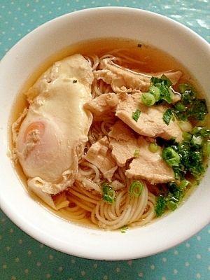 【病気の時も無理なく】鶏肉と卵入りそうめんスープ レシピ