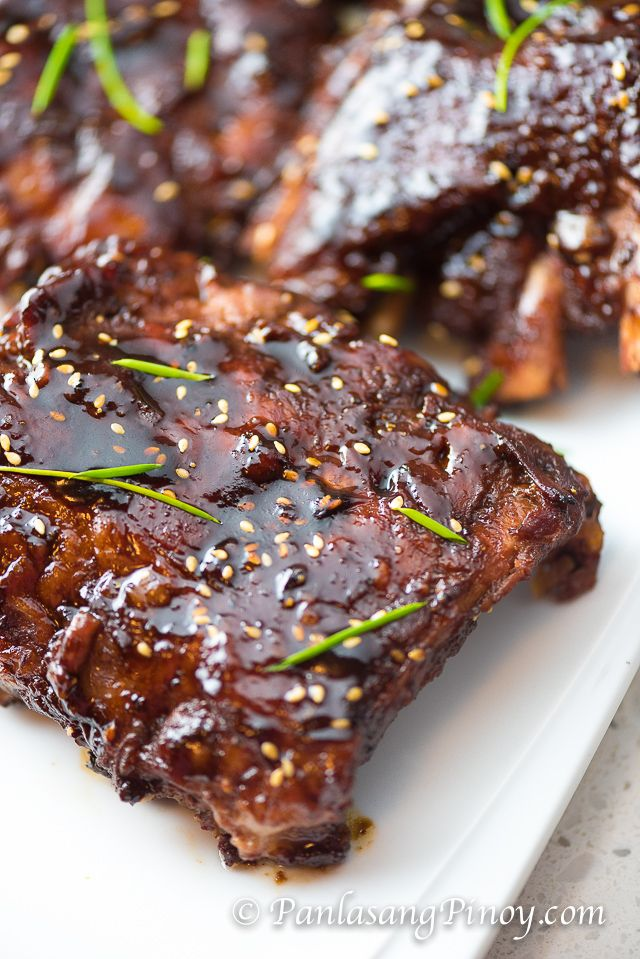 Asian BBQ Pork Baby Back Ribs are super tender fall off the bone spare ribs with an Asian twist. The sauce is composed of Hoisin and other ingredients