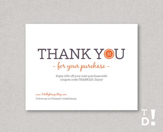 41 best Business Thank You Cards images on Pinterest Adobe - business thank you card template