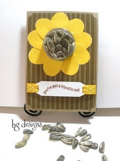 My Sunflower Stampin' Up! Sweet Treat Cup Card