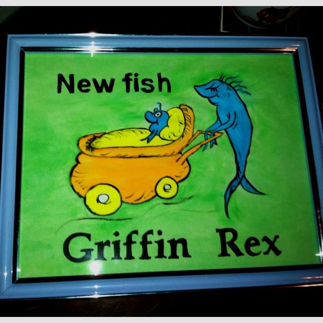 Make your own art work!! Dr Seuss nursery theme