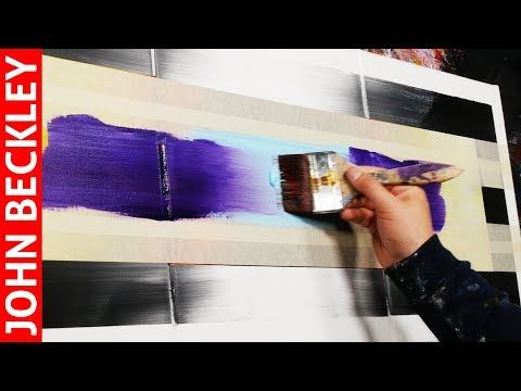 EASY abstract painting with duct tape | Eternity – YouTube