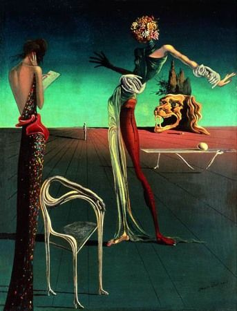 Kobieta z różaną głową - Salvador Dali, 1935 r.