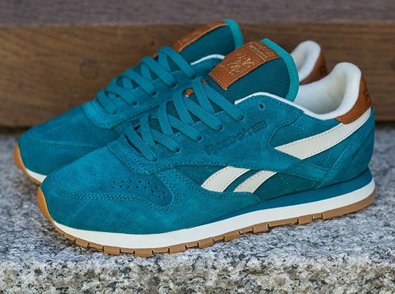 Classic Reebok Sneakernews Gem Paperwhite Suede Leather Teal 1q8dq6