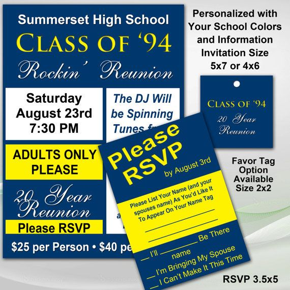17 best High School Reunion Invitations images on Pinterest 20 - class reunion invitation template