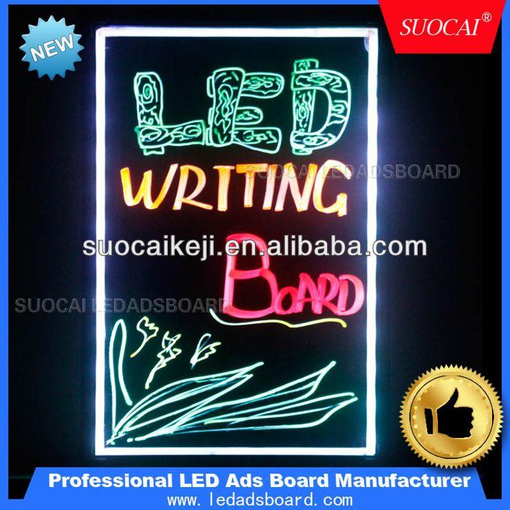 2014 neue mode leuchtenden neonschrift bord Botschaft led leuchtstoffröhre beschreibbaren menü zeichen anzeigetafel-Bild-LED-Anzeige-Produkt ID:1740301169-german.alibaba.com