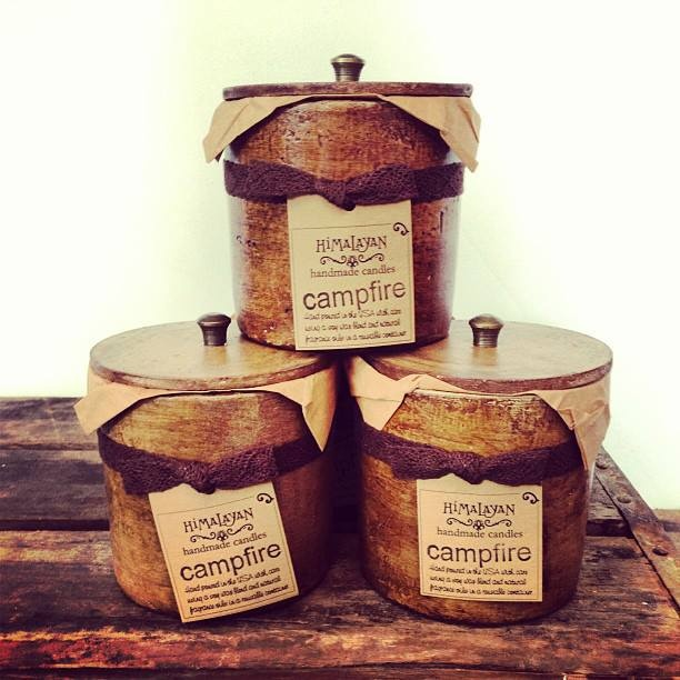 New #campfire scent from Himalayan Handmade Candles.....smells like summer nights roasting marshmallows around a bonfire  $26.
