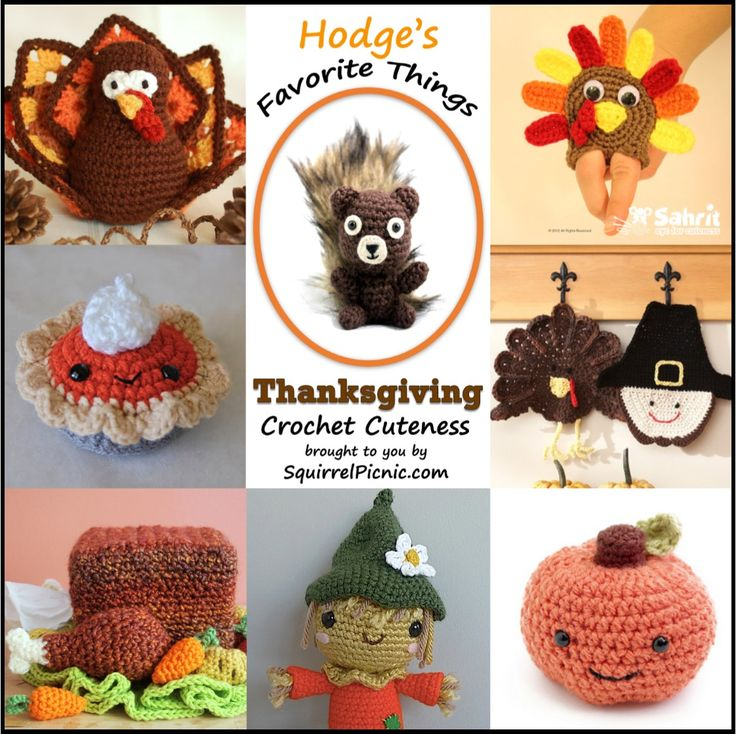 Hodge's Favorite Things: A Roundup of Free Super Cute Thanksgiving Crochet Patterns