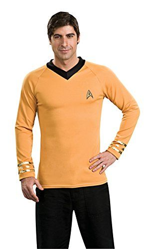 UHC Mens Classic Star Trek Gold Theme Party Fancy Costume XL 4850 -- Click image to review more details.