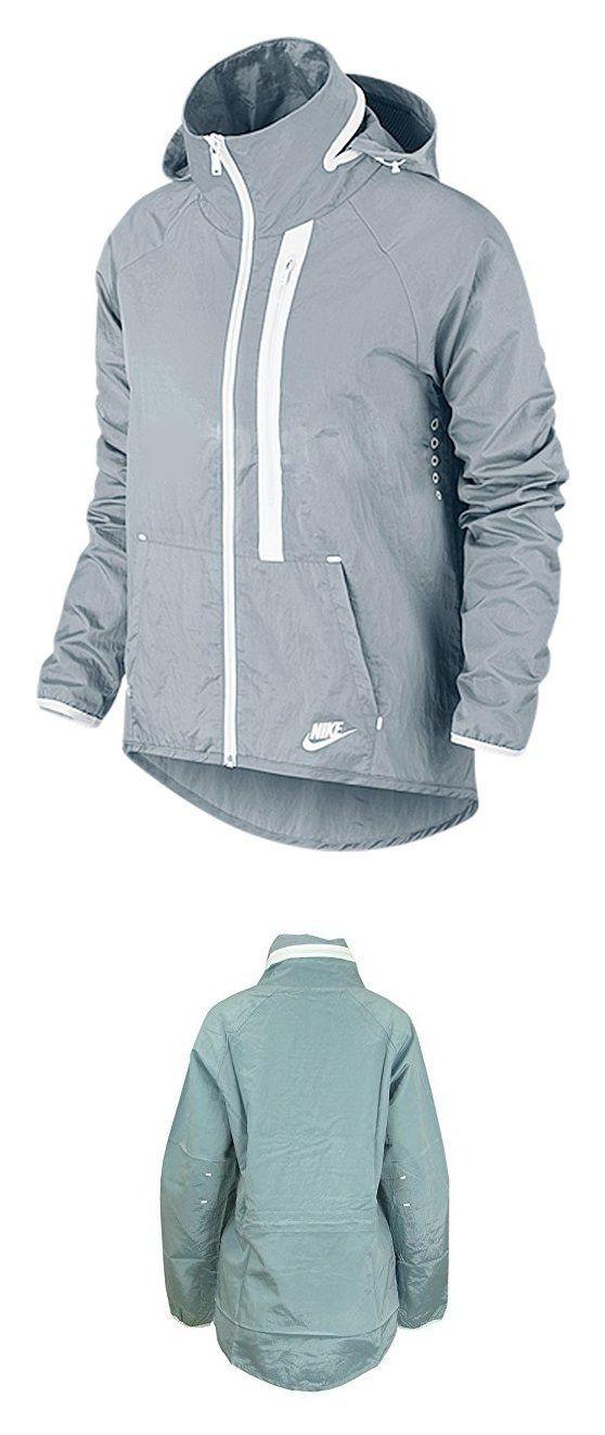 Nike Womens Tech Aeroshield Moto Cape Wind Running Jacket, Grey, S #sports #sporting_goods #nike #jackets #women #clothing #running