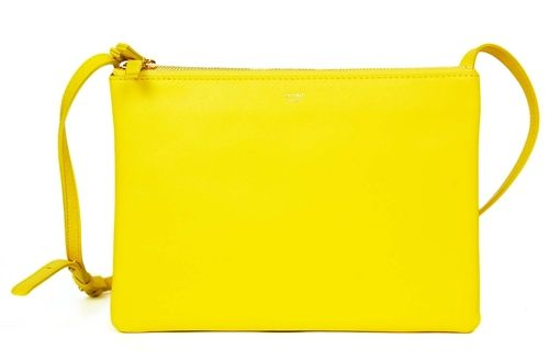 CELINE NEW WITH TAGS Yellow Leather \u0026#39;Large Trio\u0026#39; Convertible ...