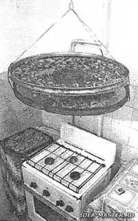 Рис. 1. Сушилка для продуктов над плитой