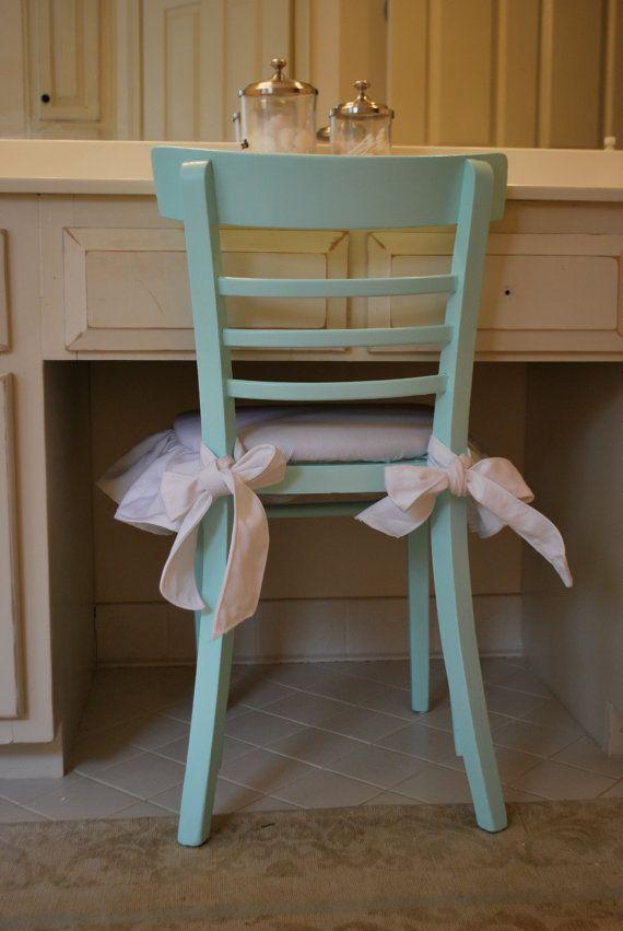 Tiffany Blue/Aqua Vanity Chair