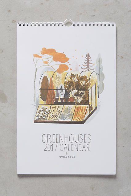 Greenhouses 2017 Calendar - anthropologie.com