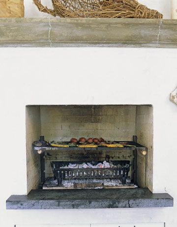 This would be a total dream to have! Wow... if I had a fireplace in the kitchen I would do this in a heartbeat!