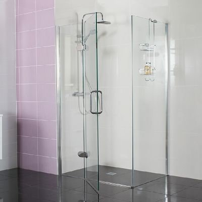 Decem Hinged Door with Hinged Inline Panel for Corner Fitting --- Create a showering statement with our Decem Hinged Door with Hinged Inline Panel for Corner Fitting. --- Available from Roman Ltd - British Made Luxury Shower Enclosures and Bath Screens. Images Copyright www.roman-showers.com