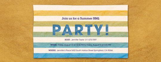 Beach Towel Invitation