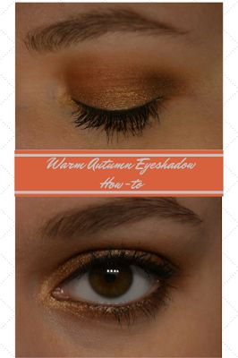 Makeup By Meggy: Warm Autumn Eyeshadow Look - A description of how to do this quick and easy eyeshadow look that's perfect for autumn.