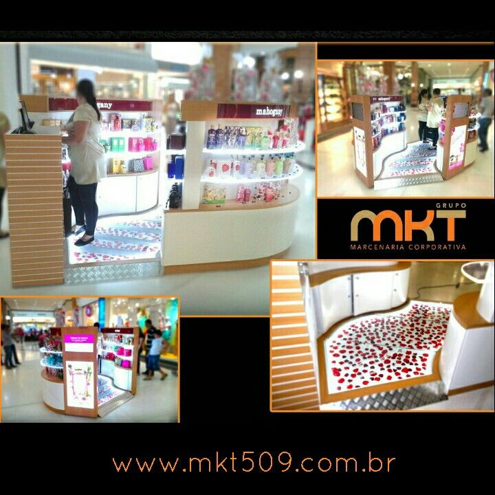 Quiosque Mahogany totalmente produzido e instalado por MKT 509 Marcenaria Corporativa valorizando a exposição do seu produto aos clientes em todo o Brasil. Visite: www.mkt509.com.br Orçamentos e infos: (11) 2951-7649 / 7644 Email: contato@mkt509.com.br #vitrine #enxovaldeloja #projetoarquitetonico #quiosque #expositor #display #shopping #kiosk #loja #shop #varejo #retail #marcenaria #marcenariacorporativa #mobiliariotematico #mkt509 #led #acrílico