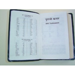Nepalese Black Holy Bible NRV Nepali New Revised Version / Bonded Leather Bound with Golden Edges / 10NEPA103M  $59.99