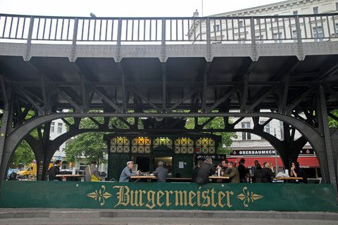 Burgers under the tracks.