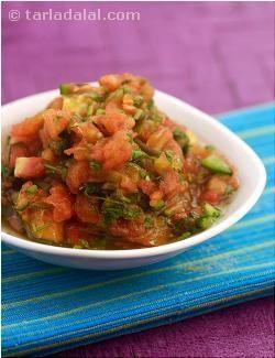 Uncooked Salsa (Jain Recipe) recipe   by Tarla Dalal   Tarladalal.com   #8655