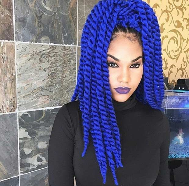 29 Blue Hair Color Ideas For Daring Women Marley Twists