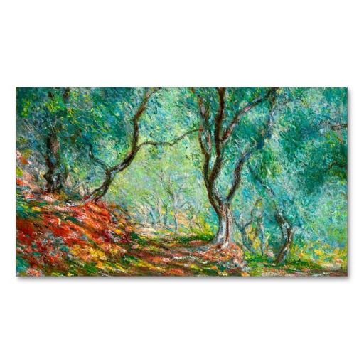 Olive Tree Wood in the Moreno Garden, 1884 art Business Card Template ...
