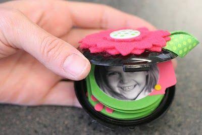mini album in a makeup compact
