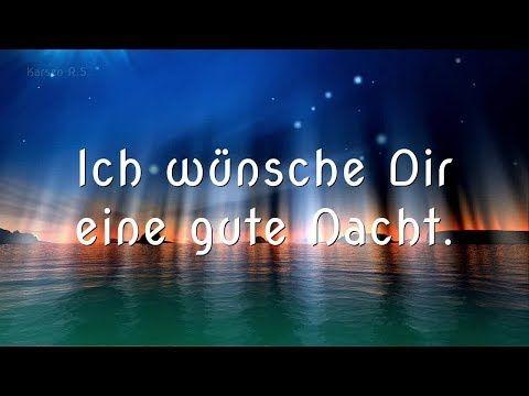 Gute Nacht Gruß für Dich und angenehme Träume #Gruß - YouTube