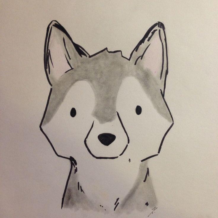 Husky Drawing Pinteres