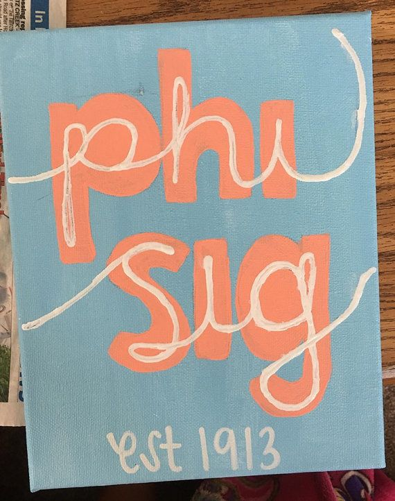 Custom Made Sorority Canvas- Phi Sigma Sigma