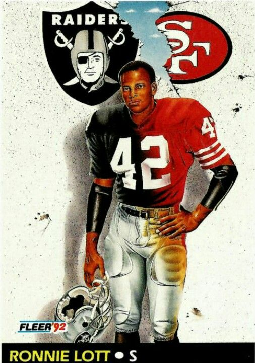 Hall Of Fame Ronnie Lott Oakland Raiders Los Angeles Raiders Silver and Black