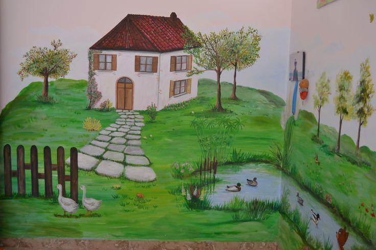 cameretta dipinta 1990 autore Natalia Albanese