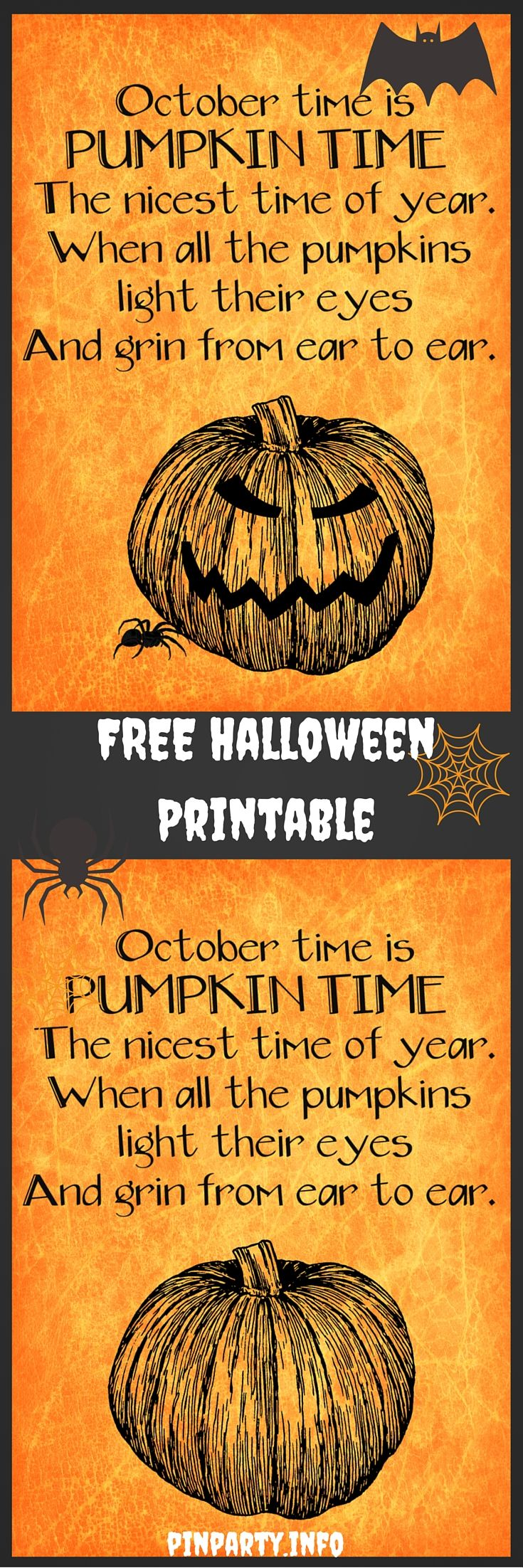 This FREE Halloween Printable Comes In Two Choices, Scary And Not So Scary