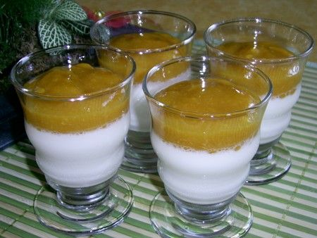 PANNA COTTA ET PUREE DE FRUITS DE LA PASSION
