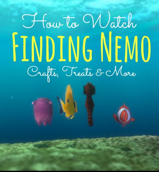 Hey there, Mr. Grumpy Gills.  Freshen up your summer by watching Finding Nemo and doing these awesome crafts!